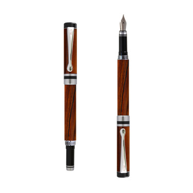 Ipazia fountain pen in Cocobolo wood