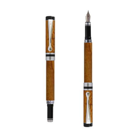 Ipazia fountain pen in Olive wood