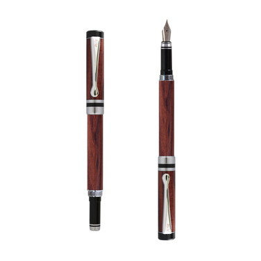 Ipazia fountain pen in Bubinga wood