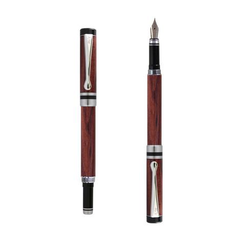 Ipazia fountain pen in Bubinga wood