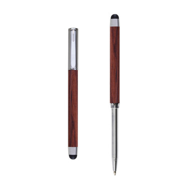 Res Nova ballpoint and touch screen pen in Bubinga wood