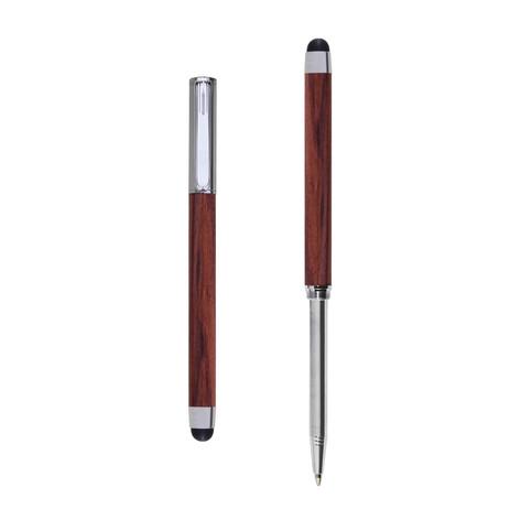 Res Nova ballpoint and touch screen pen in Bubinga wood
