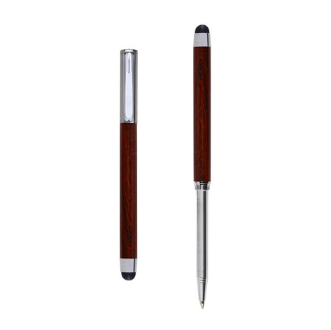 Res Nova ballpoint and touch screen pen in Padouk wood