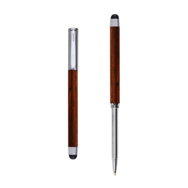 Res Nova ballpoint and touch screen pen in Cocobolo wood