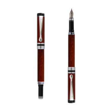 Ipazia fountain pen in Padouk wood