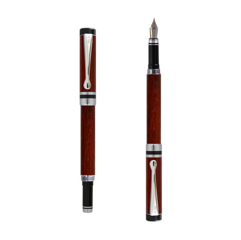 Ipazia fountain pen in Padouk wood