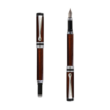 Ipazia fountain pen in Pau violeto wood
