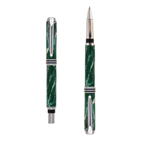 Antea roller pen in Green Marble effect