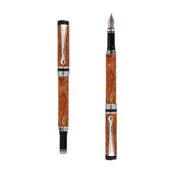Ipazia pountain pen Orange marble effect