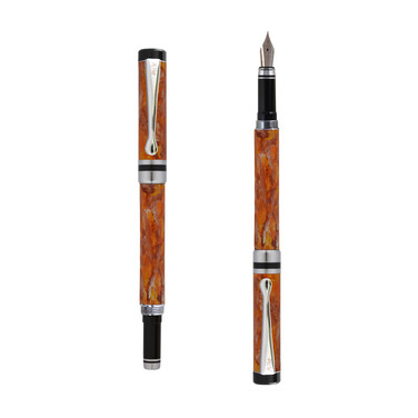 Ipazia fountain pen inOrange marble effect