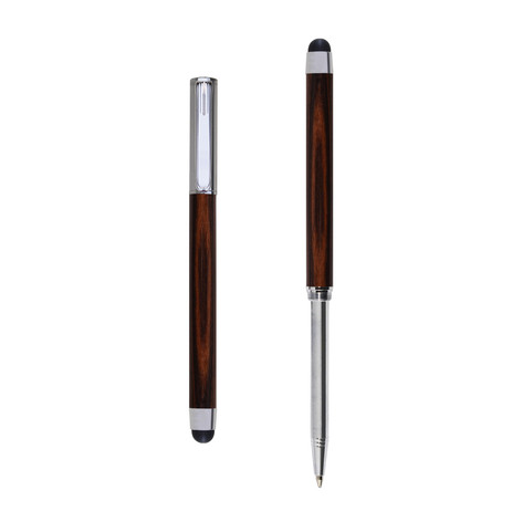 Res Nova ballpoint and touch screen pen in Pau Violeto wood