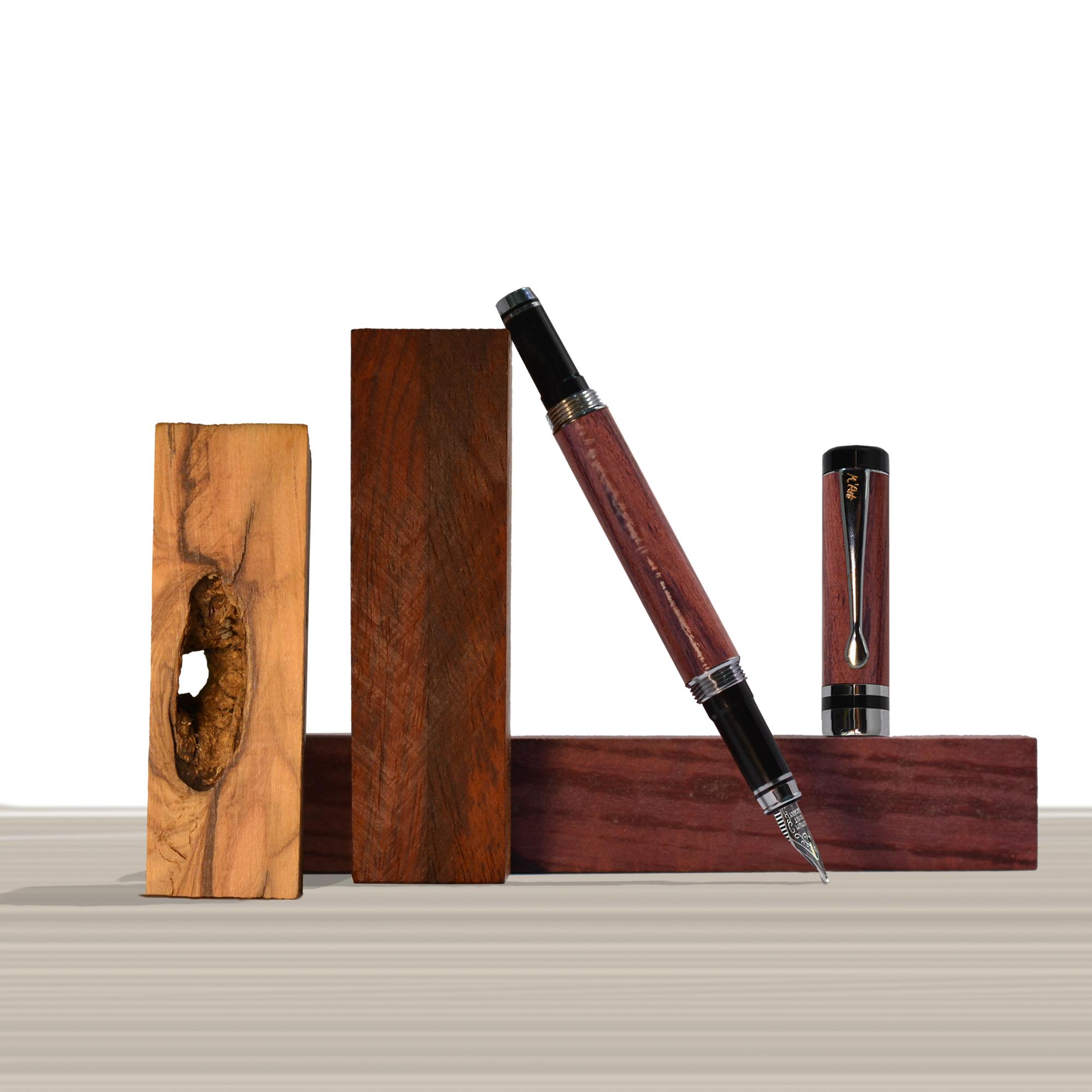 Ipazia fountain pen Bubinga Wood