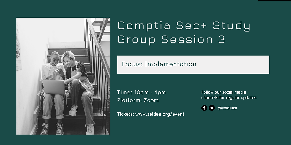 Comptia Security+ SY0-601 Study Group Session 3