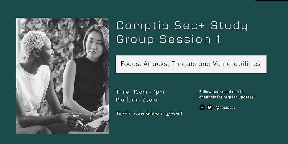 Comptia Security+ SY0-601 Study Group Session 1