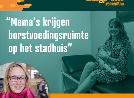 Anniek Nagels opent borstvoedingsruimte op het stadhuis