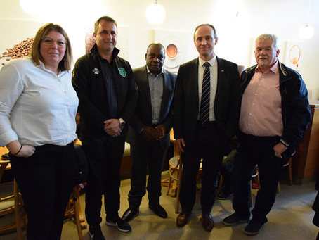 Het nationale voetbalteam  (-23) van Malawi verbleef twee weken in Genk.