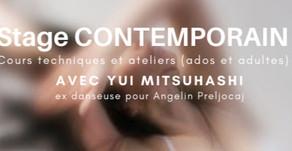 avril 2020 • Stage contemporain (cours techniques et ateliers)