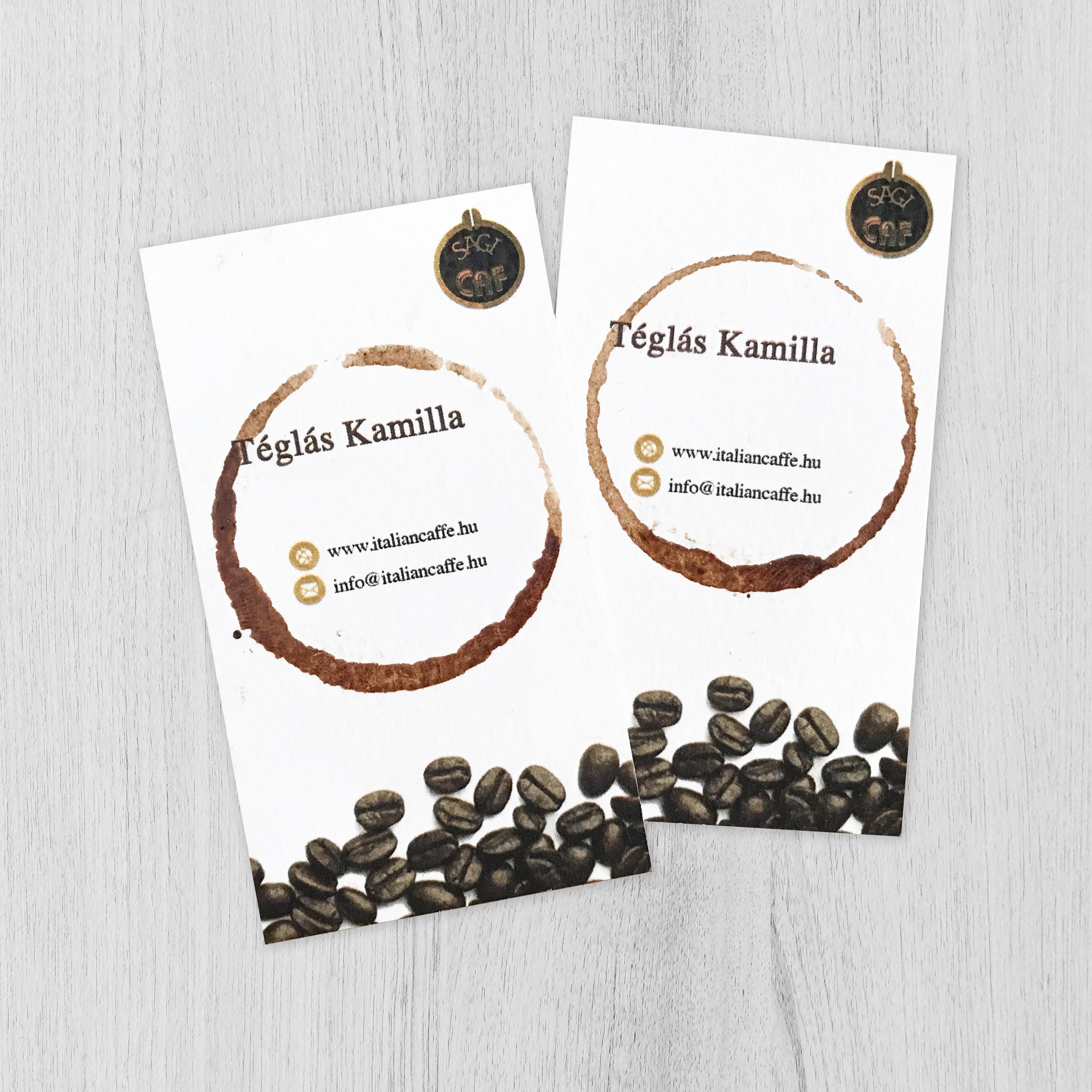 Kamilla névjegykártya instára