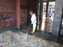 Pulizia lavaggio suolo