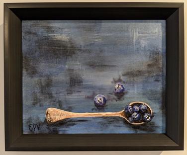 Blueberries & Spoon