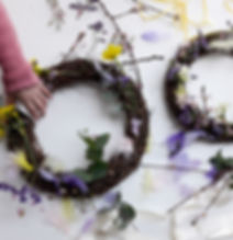 childrens easter wreath