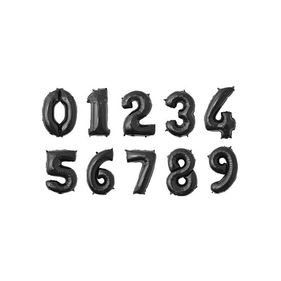 Black foil number balloons - 40inch