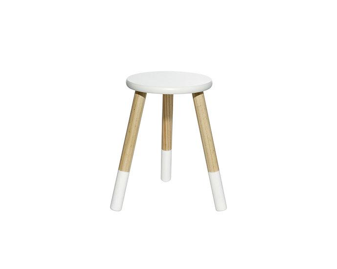 White kids stool