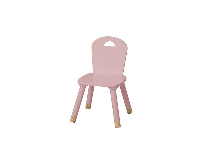 Pink wooden kids chair