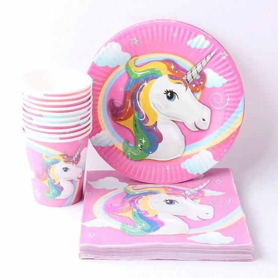 Unicorn table setting for 10