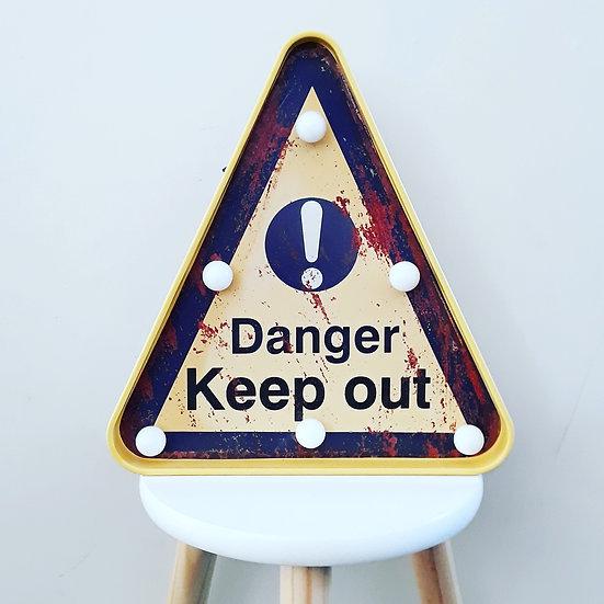LED danger sign