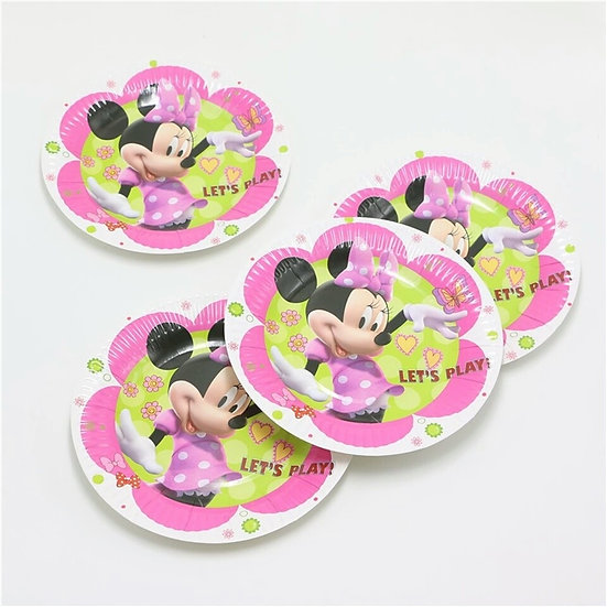 Minnie mouse plate set