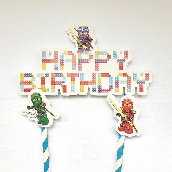 Lego ninja cake topper