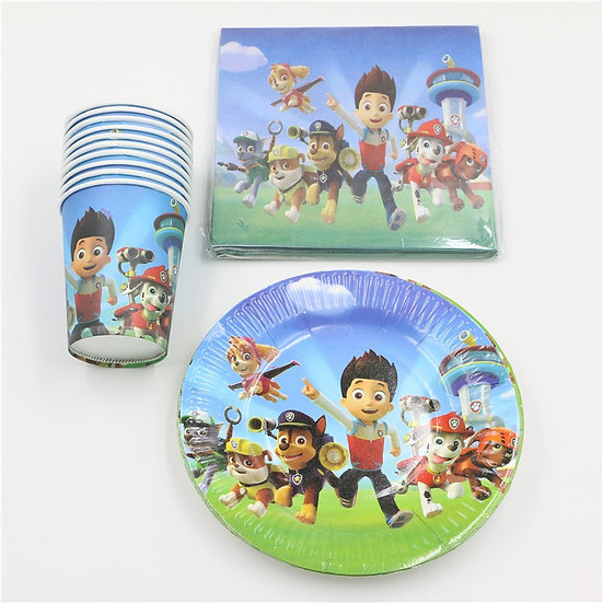 Paw patrol table setting