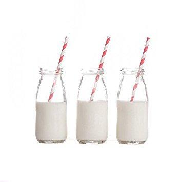 Milk bottles - 50c each