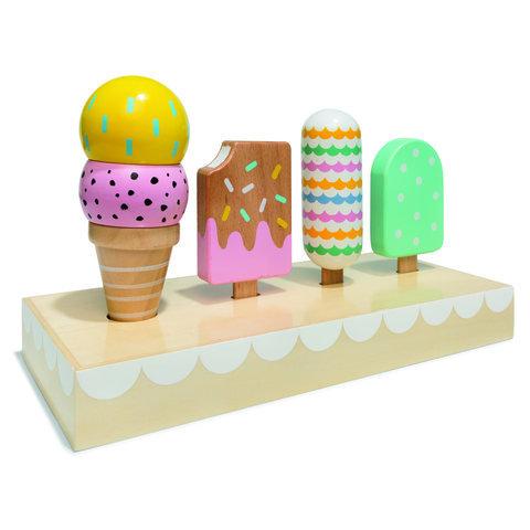 Wooden icecream decoration