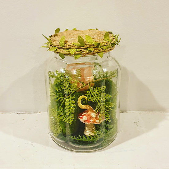 Enchanted garden jar