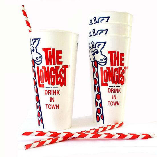 Longest drink in town - giraffe milkshake cups