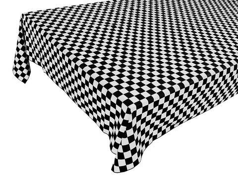 Plastic check table cloth