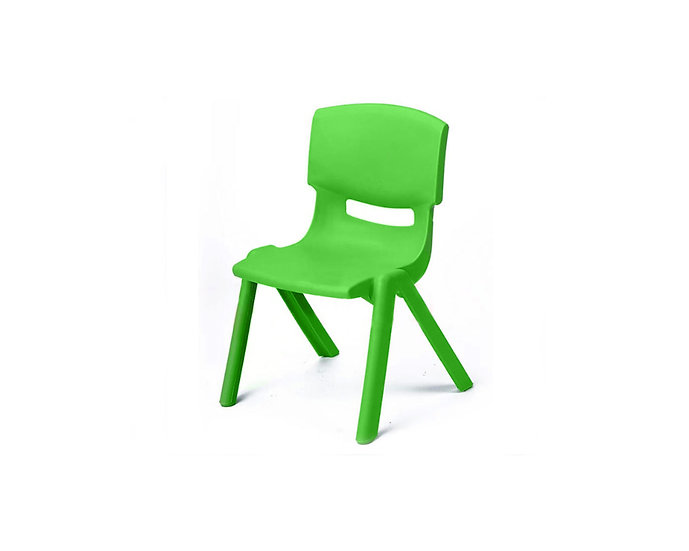 Green child's chair