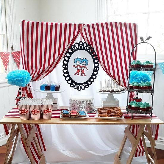 Dr Seuss party table