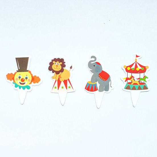Circus cupcake topper