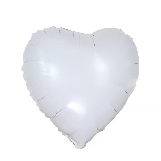 White heart balloon