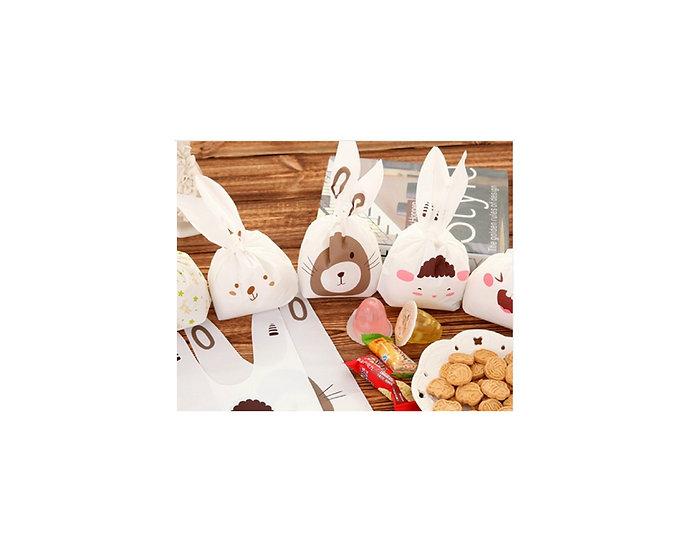Brown bunny treat bags