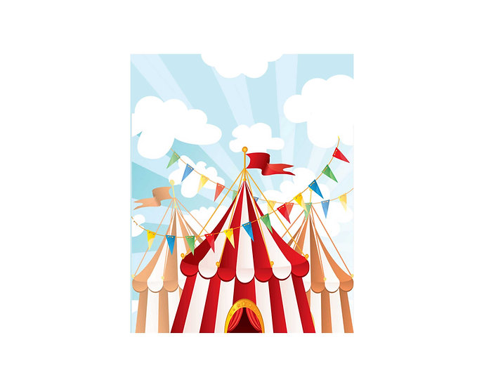 Circus / carnival theme backdrop or scene setter