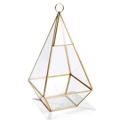 Gold glass terrarium
