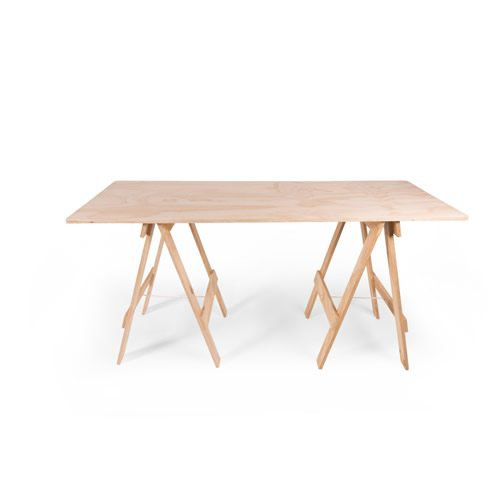 Adult wooden trestle table