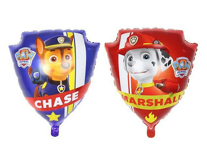 Paw patrol shield balloon