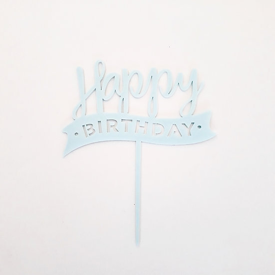 happy birthday cake topper acrylic