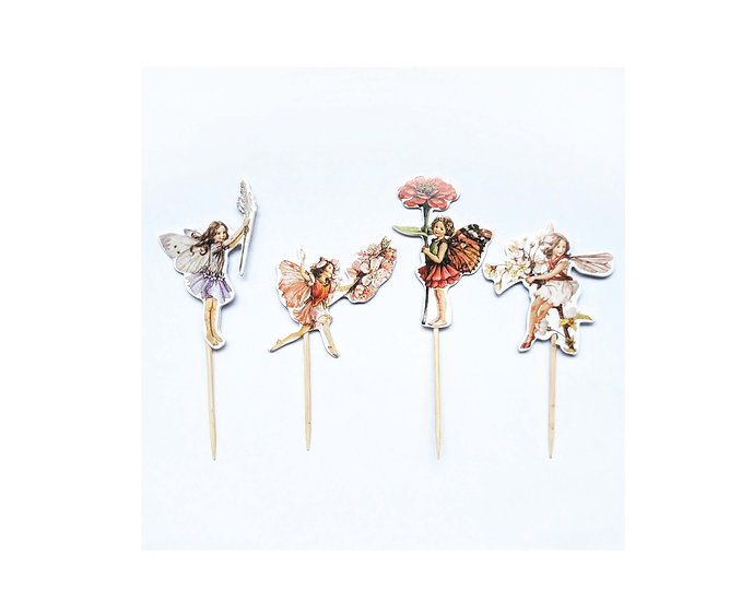 Fairy cup cake toppers