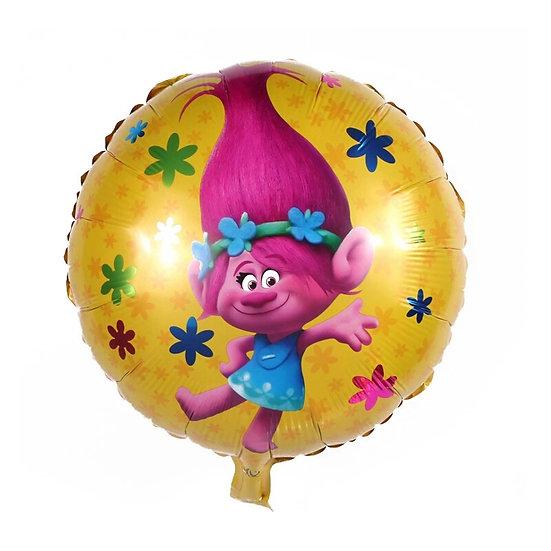Poppy round balloon